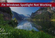 Fix Windows Spotlight Not Working