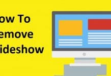 How to Remove Slideshow